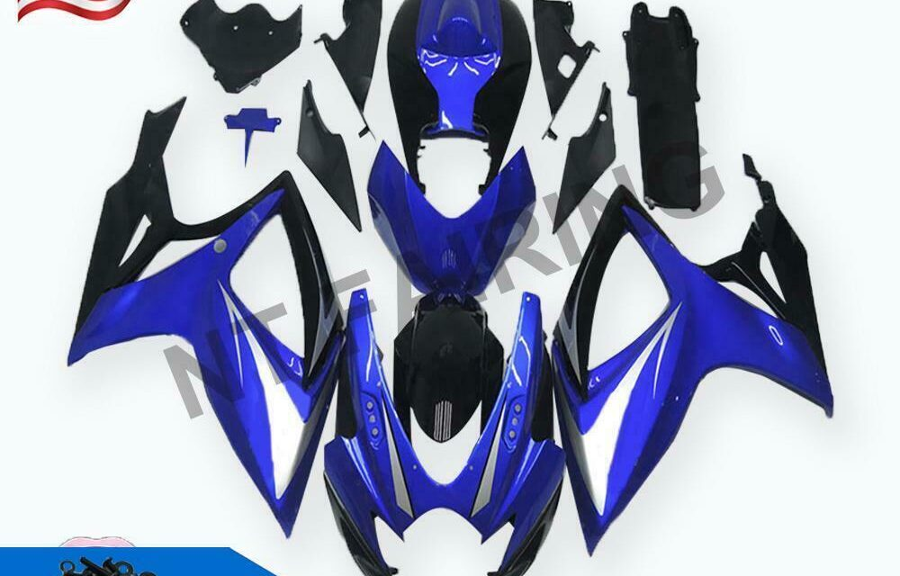 GL Injection Mold Blue Fairing Fit for Suzuki 2006 2007 GSXR 600 750 a018