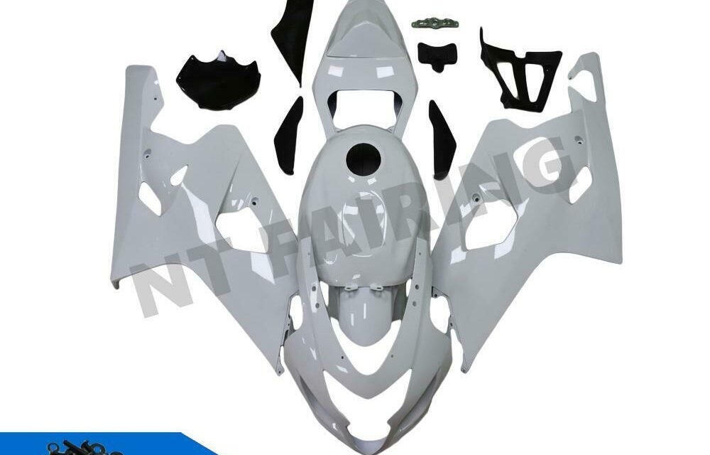GL Injection Mold White Fairing Kit  Fit for Suzuki 2004 2005 GSXR 600 750 o014