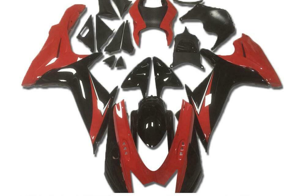 CC Injection Fairing Red Black ABS Fit for Suzuki 2011-2020 GSXR 600 750 a005