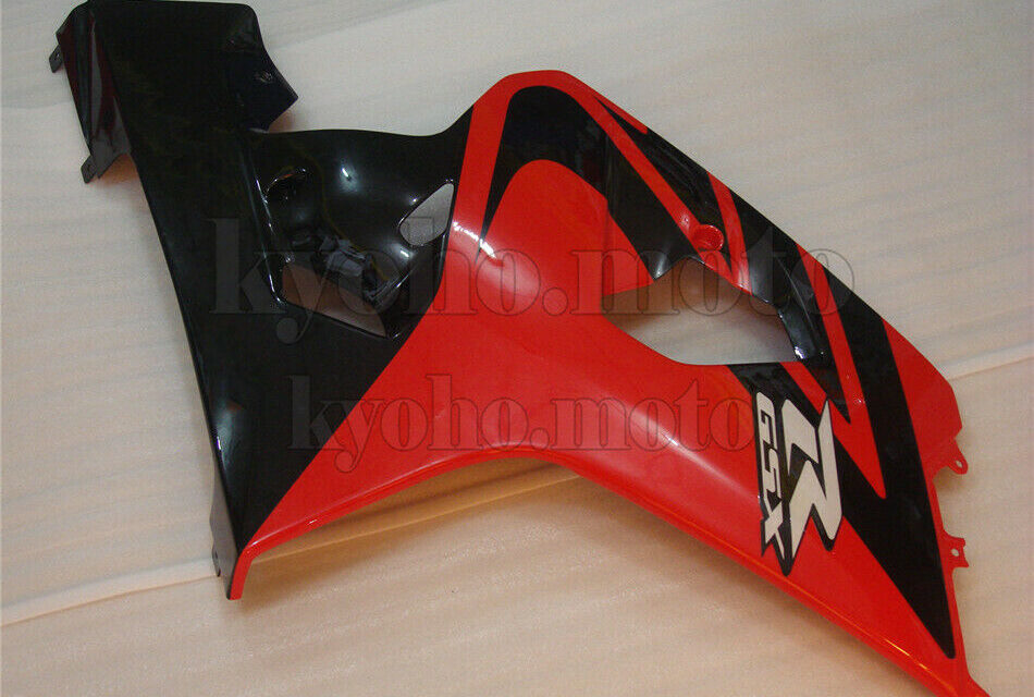 Black Red Injection Right Side Fairing Fit for Suzuki GSX-R 600 750 2004-2005 k4