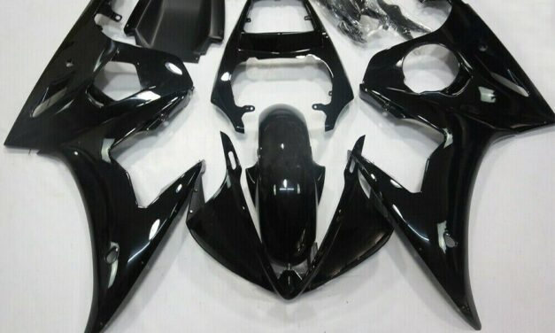 Fairing Injection Plastic Kit Gloss Black Fit For YAMAHA 2003 2004 YZF R6
